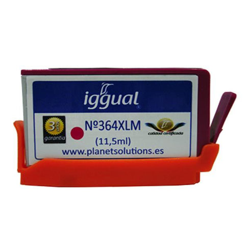 Image of Recycled Ink Cartridge iggual HP PSICB324EE Magenta-Universal Store London™