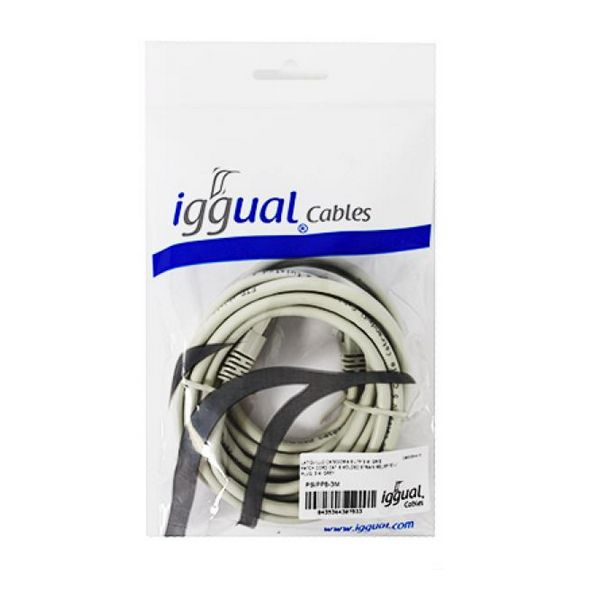 CAT 6 FTP Cable iggual PSIPP6-3M 3 m Beige-Universal Store London™