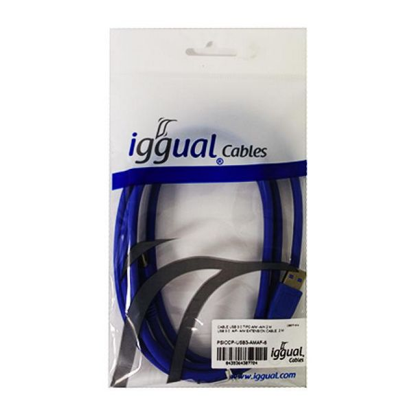 USB Cable 3.0 iggual PSICCP-USB3-AM 2 m Blue-Universal Store London™