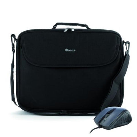 Laptop and Mouse Case NGS BUREAUKIT 16'''' Black-Universal Store London™