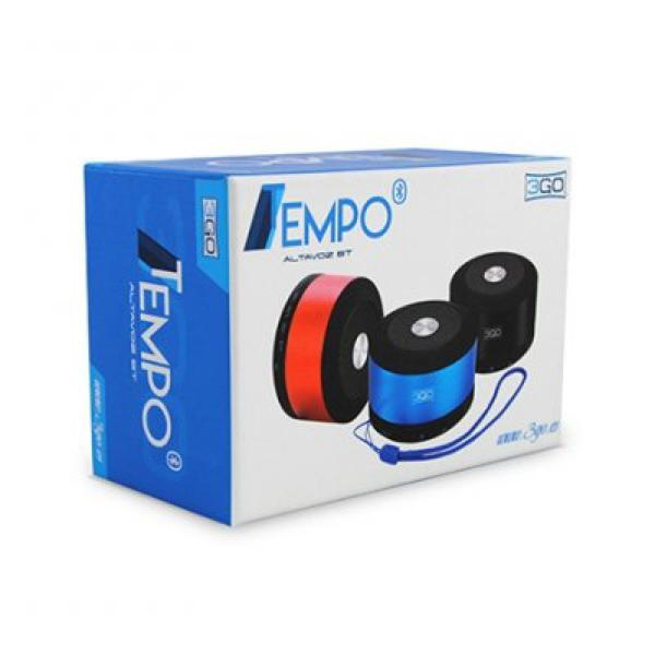 Portable Bluetooth Speakers 3GO TEMPOBK 3W Micro SD Black-Universal Store London™