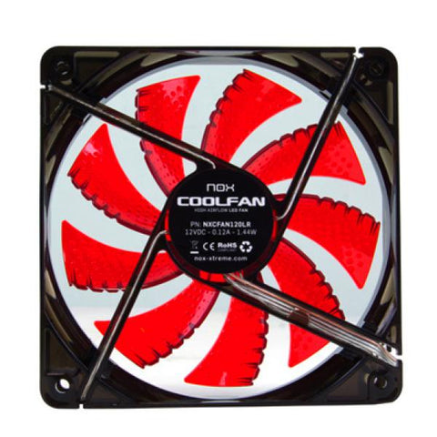 Box Ventilator NOX NXCFAN120LR Cool Fan 12 cm LED Red-Universal Store London™