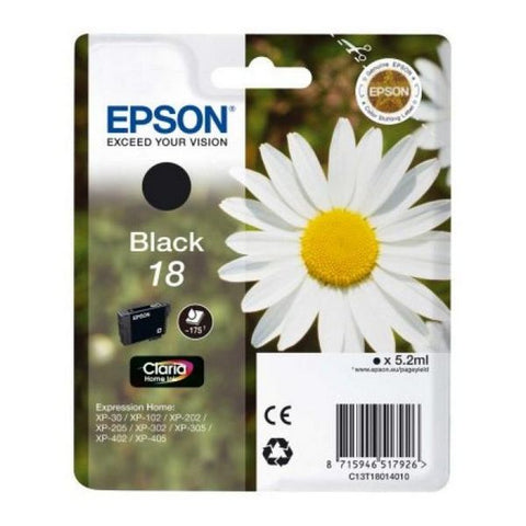 Original Ink Cartridge Epson C13T18014010 Black-Universal Store London™