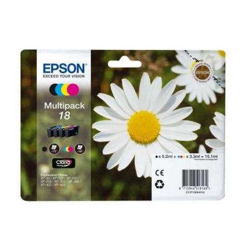 Original Ink Cartridge Epson C13T18064010 Black Yellow Cyan Magenta-Universal Store London™