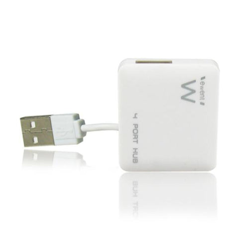 Image of Mini 4-Port Hub Ewent EW1125 USB 2.0 White-Universal Store London™