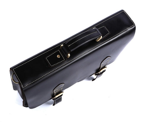 Image of 'Napoli' Leather Business Briefcase - Black-Universal Store London™