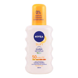 Nivea - SUN pure&sensitive SPF50 spray 200 ml-Universal Store London™