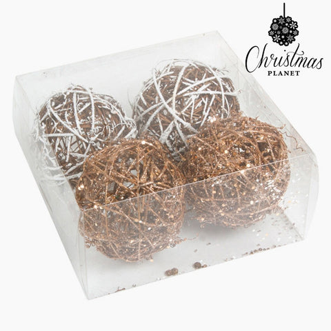 Christmas Baubles White Gold (4 pcs) by Christmas Planet-Universal Store London™