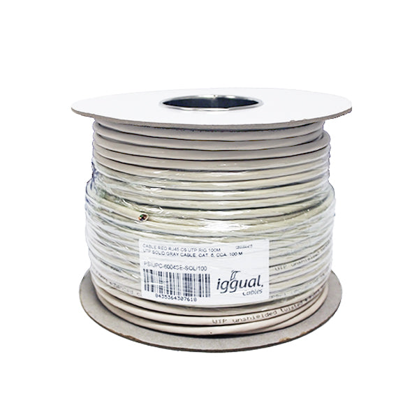 Category 6 Hard UTP RJ45 Cable iggual PSIUPC-6004SE- 100 m Grey-Universal Store London™