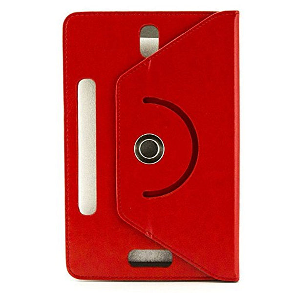 "Universal Rotating Leather Tablet Case Ref. 186841 9"" Red-Universal Store London™"