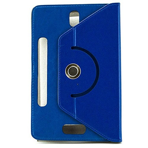 "Image of Universal Rotating Leather Tablet Case Ref. 186889 9"" Blue-Universal Store London™"