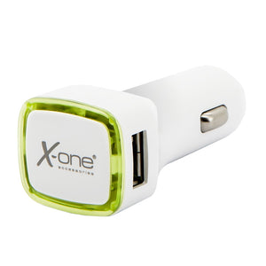 Car Charger Ref. 138413 2 x USB-A White Green-Universal Store London™