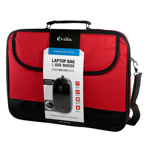 Image of Laptop and Mouse Case E-Vitta EVLB000301 15.4''''-16'''' Red Black-Universal Store London™