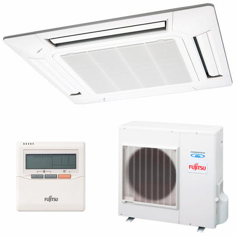 Air Conditioning Fujitsu AUY-100UIA Cassette Inverter A++ 8600 fg/h Cold + heat White-Universal Store London™