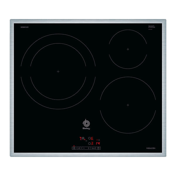 Induction Hot Plate Balay 3EB865XR 60 cm Black (3 cooking areas)-Universal Store London™