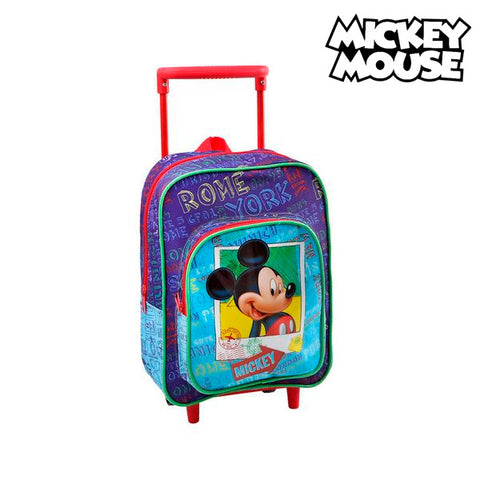 School Rucksack with Wheels Mickey Mouse 1827-Universal Store London™