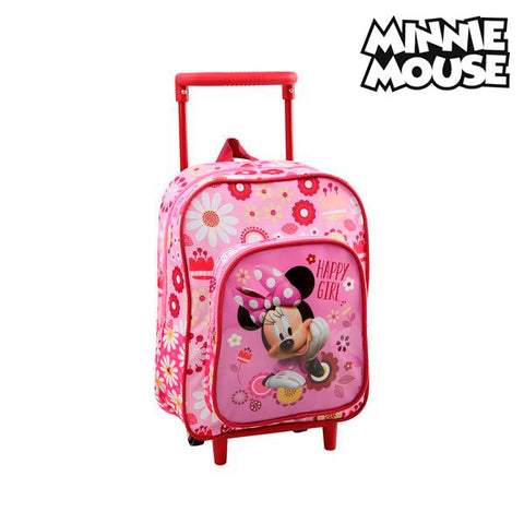 Image of School Rucksack with Wheels Minnie Mouse 1841-Universal Store London™