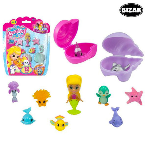 Image of Set of Bath time Animals Bizak 63157597 (12 pcs)-Universal Store London™