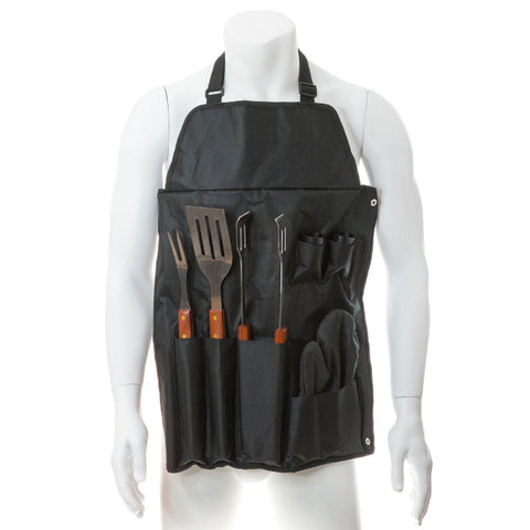 Image of Apron with Barbecue Utensils (7 pcs) 143382-Universal Store London™