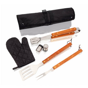 Apron with Barbecue Utensils (7 pcs) 143382-Universal Store London™