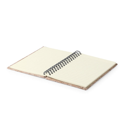 Cork Spiral Notebook 145018-Universal Store London™
