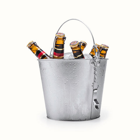 Image of Ice Bucket with Handle and Aluminium Bottle Opener 145332-Universal Store London™