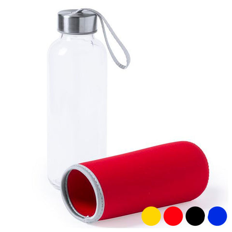 Glass Bottle with Neoprene Cover (420 ml) 145513-Universal Store London™