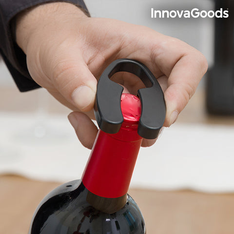 Image of InnovaGoods Electric Corkscrew with Foil Cutter-Universal Store London™