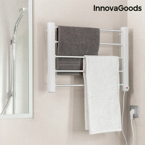 Electric Wall Towel Rail InnovaGoods 65W White Grey (5 Bars)-Universal Store London™