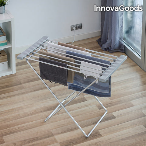 InnovaGoods Grey Foldable Electric Clothes Horse 120W (8 Bars)-Universal Store London™
