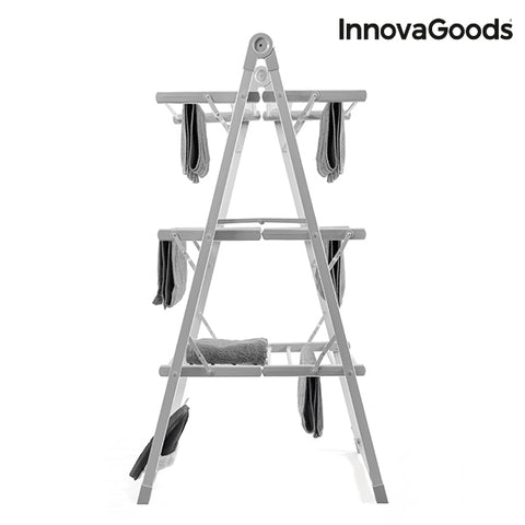 InnovaGoods Compak Foldable Electric Clothes Airer 300W Grey (30 Bars)-Universal Store London™