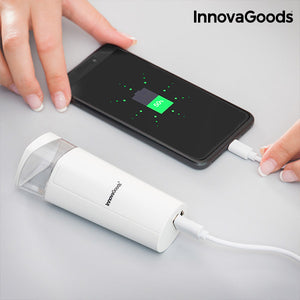 InnovaGoods Two in One Facial Steamer with Power Bank