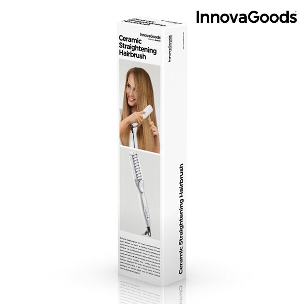 InnovaGoods Electric Hair Straightening Brush 25W-Universal Store London™