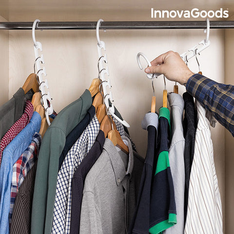 Image of InnovaGoods Clothes Organiser for 40 Items (24 Pieces)-Universal Store London™