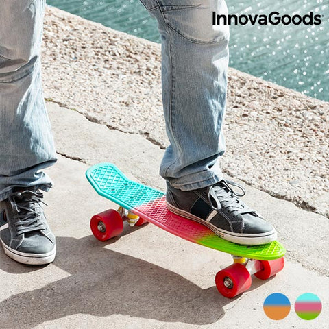 InnovaGoods Mini Cruiser Skateboard (4 Wheels)-Universal Store London™