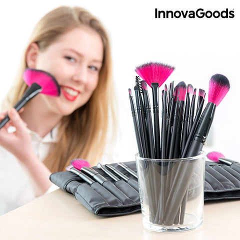 Image of InnovaGoods Set of 24 Makeup Brushes-Universal Store London™