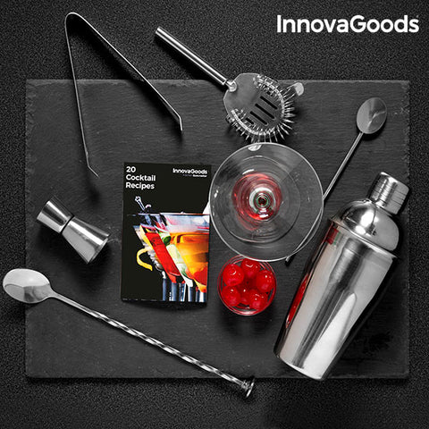 Image of InnovaGoods Cocktail Set with Recipe Book (6 Pieces)-Universal Store London™