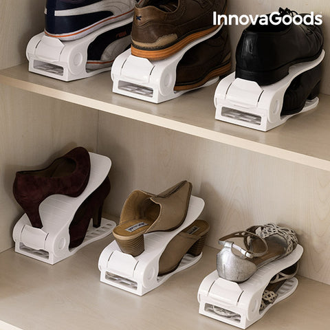 InnovaGoods Shoe Rack Adjustable Shoe Slots (6 Pairs)-Universal Store London™