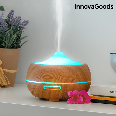 Image of InnovaGoods Wooden-Effect Aromatherapy Humidifier-Universal Store London™