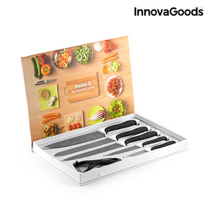 InnovaGoods Swiss·Q Stone Knives & Peeler Set (6 Pieces)