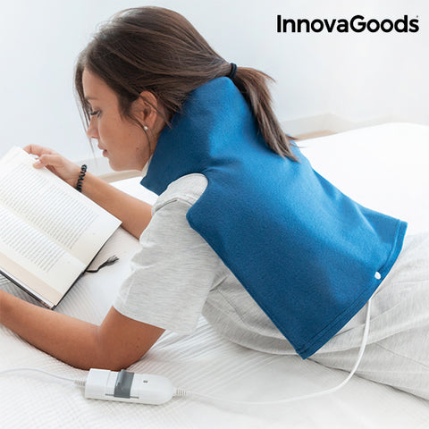 InnovaGoods Electric Pad for Neck & Shoulders 40 x 40 cm 60W Blue-Universal Store London™