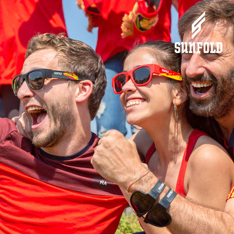 Image of Black Sunfold Spain World Cup Roll-Up Sunglasses-Universal Store London™