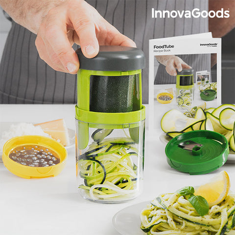 Image of InnovaGoods FoodTube Spiralizer and Grater with Recipe Book-Universal Store London™