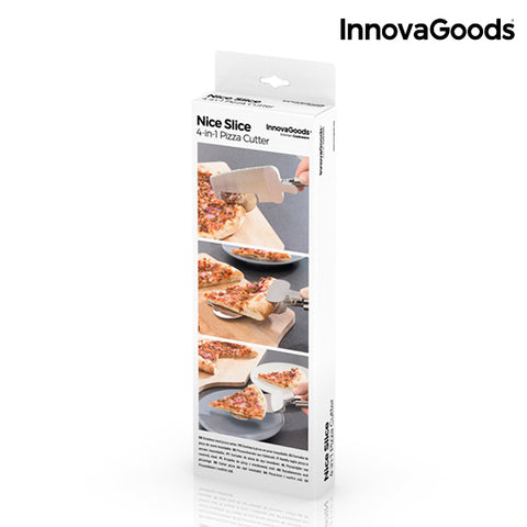 InnovaGoods 4-in-1 Nice Slice Pizza Cutter-Universal Store London™