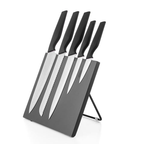 Bravissima Kitchen Knives with Magnetic Stand (6 pieces)