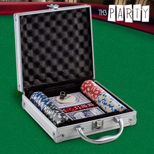 Luxe Th3 Party Poker Set with Case (100 chips)-Universal Store London™