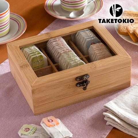TakeTokio Bamboo Tea Storage Box-Universal Store London™