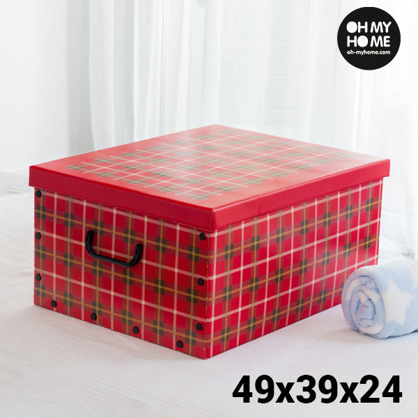 Oh My Home Pictures Cardboard Storage Box with Lid and Handles-Universal Store London™