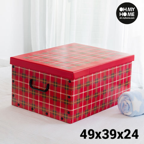 Image of Oh My Home Pictures Cardboard Storage Box with Lid and Handles-Universal Store London™