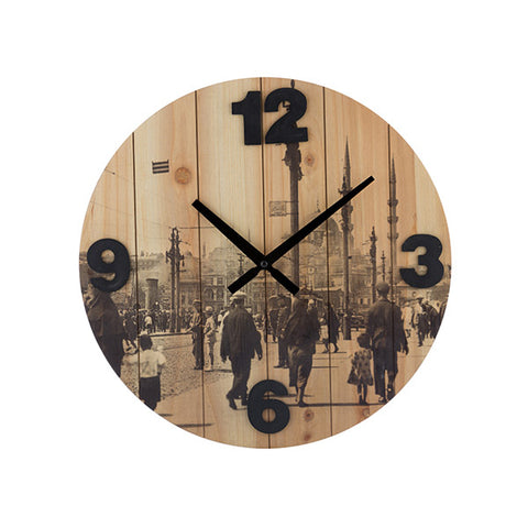 Vintage Coconut Cities Wall Clock-Universal Store London™